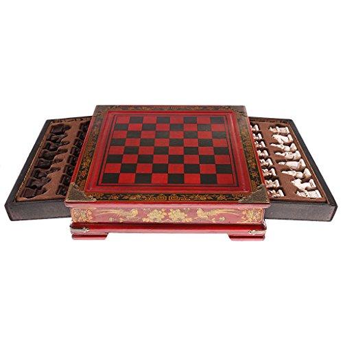 Gazechimp Dynastie Krieg -Historisches Chinesisches Schachspiel Set mit 32 Schachfiguren
