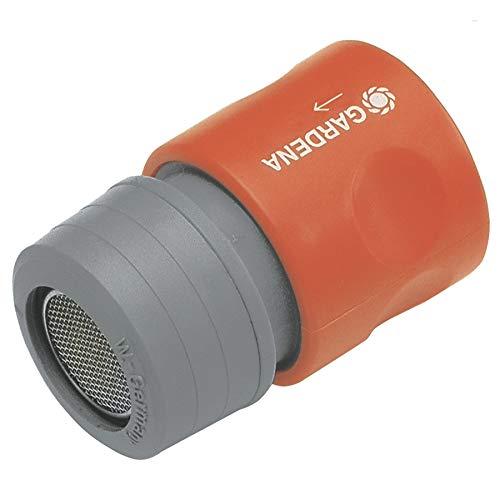GARDENA Perlstrahl-Adapter: Perlator für spritzfreies Wasser am Wasserhahn, zum Aufstecken auf den GARDENA Hahnverbinder, für sanften, luftdurchsetzten, gebündelten Wasserstrahl (2905-26)