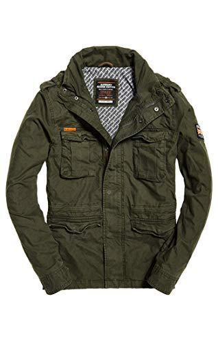 Superdry Herren Mantel Classic Rookie Military Jacket, Grün (Forest Night Tdf), Large