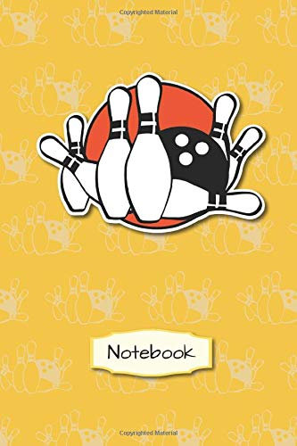Notebook: Bowling Bowler | 6x9 - Dot Grid 120 pages | notebook | playbook | planner | gift | to fill out yourself