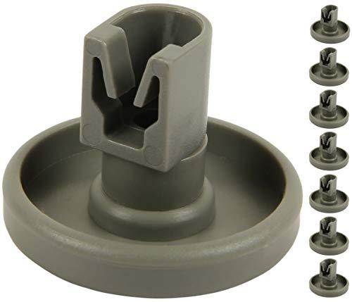 McFilter Spülmaschine Unterkorbrollen (1 Set = 8 Stück), untere Korbrollen geeignet für AEG Favorit, Privileg, Zanussi, UVM.