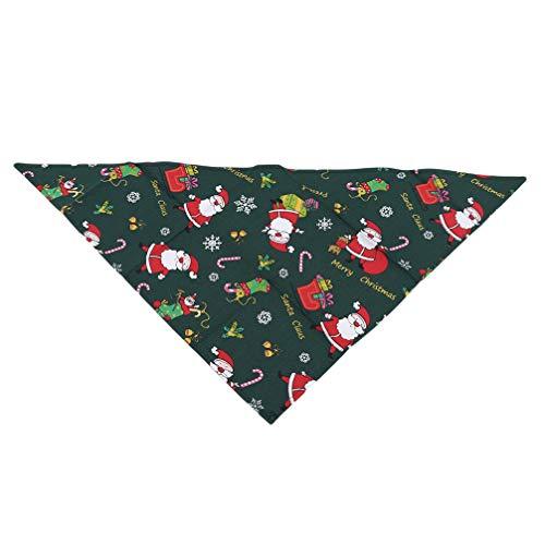 Toporchid Weihnachten Haustier Speichel Handtuch Hund Schal Dreieck Handtuch Heimtierbedarf (Grün)