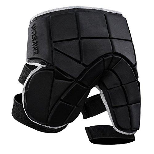 Sharplace Schwarz Protektorenhose Snowboard Protektoren Unterhose Schutzhose Atmungsaktive Sporthose Gepolsterte Shorts für Skifahren Skaten