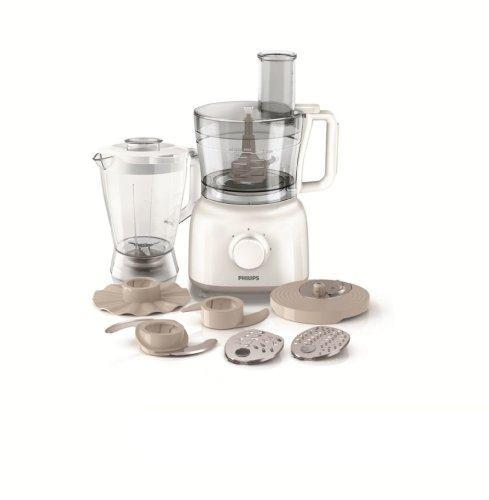Philips HR7628/01 Daily Collection Küchenmaschine, Kunststoff, 2.2 liters, Beige/Transparent