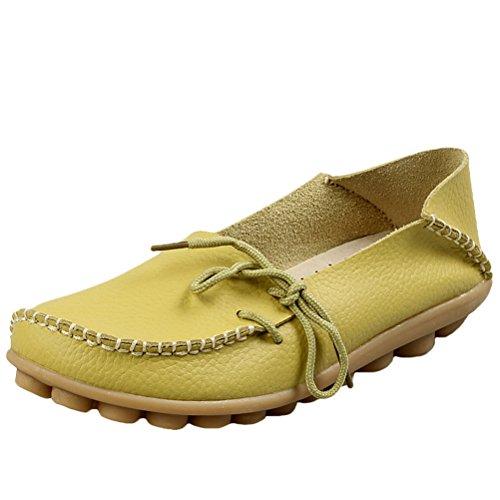 Vogstyle Damen Casual Slipper Flatschuhe Low-top Schuhe Erbsenschuhe Art 1 Apfelgrün 38