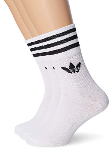 adidas Unisex Mid Cut Socken (3 Paar) XL White/Black