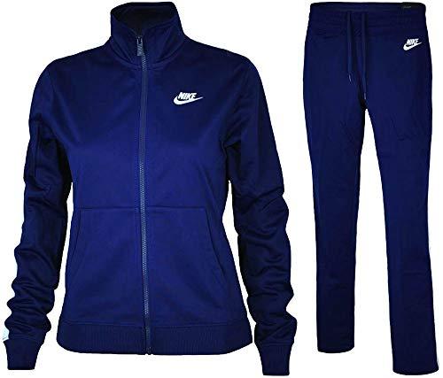 Nike Damen W NSW PK OH Tracksuit, Blue Void/White, S