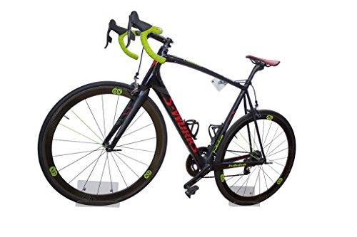 trelixx Fahrrad Wandhalter Rennrad aus Plexiglas® Acrylglas, platzsparende Fahrradaufbewahrung, Radhalter Wandmontage 1000fach verkauft