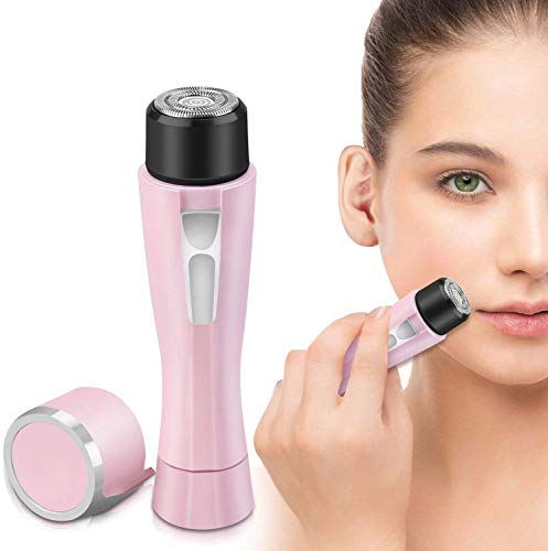 Gesichtshaarentferner für Frauen,elektrischer schmerzloser Haarentferner mit Wasserdicht Gesicht Haare/Kinnstoppel/Oberlippenbart Damenrasierer Rasierer Damen (Pink)
