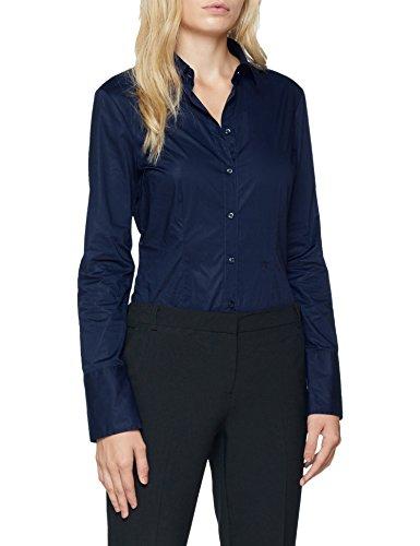 Seidensticker Damen Bluse - Bügelleichte,100% Baumwolle, Blau (Navy 18), 38