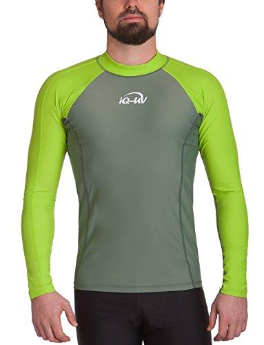 iQ-Company Herren UV-Shirt IQ 300 Watersport Long Sleeve Neo-Grün/Olive), XXL (56)