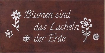 Schild Gartenschild B40 H20cm rost Eisen lackiert (Lächeln der Erde)