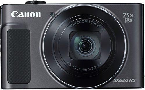 Canon PowerShot SX620 HS Digitalkamera (20,2 Megapixel, 25-fach optischer Zoom, 50-fach ZoomPlus, 7,5cm (3 Zoll) Display, opt Bildstabilisator, WLAN, NFC) schwarz