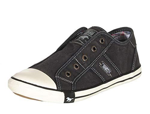 MUSTANG Shoes Damen Schuhe Slipper Low-Top Halbschuhe Full Black 41