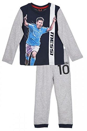 Leo Messi Messi Jungen Schlafanzug Pyjamas Lang 104 (4 Jahre), Marine