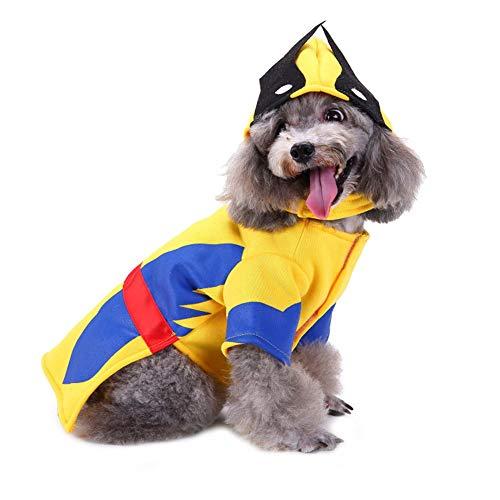 CHIYEEE Weihnachten Haustier Lustig Kleidung für Hunde und Katzen Niedlich Hundebekleidung Welpen Halloween Sweatshirt T-Shirt Kostümiert L