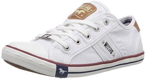 Mustang Damen 1099-302-1 Sneaker, (1 weiß), 36 EU