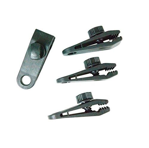 Windhager Planenclip, Halterung Spanner Befestigungsclip für Plane Zelt Gewebeplane Set 8 teilig, schwarz, 8,3 x 2,6 x 2,8 cm, 07010