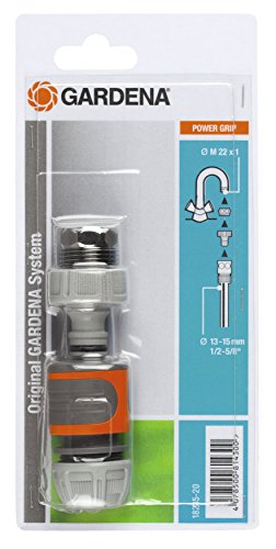 GARDENA Schnellanschluss-Satz: Wasserhahnanschluss-Set für den schnellen Anschluss von 13 mm (1/2