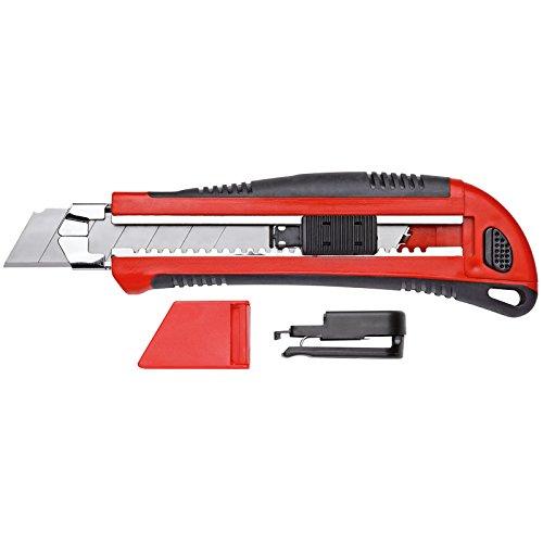 GEDORE red Cuttermesser mit 5 Klingen mit Gürtelclip und Klingenmagazin