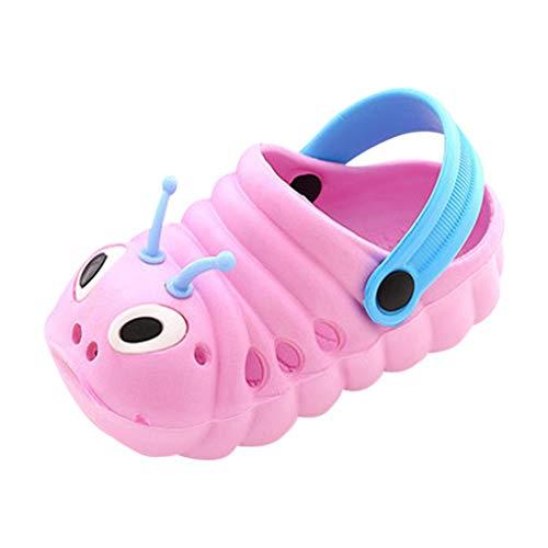 Sneaker Mädchen Sandalen Turnschuhe Clogs Junge Pantoletten Hausschuhe Schnürhalbschuhe Lederschuhe Lauflernschuhe Taufschuhe (Rosa, 18-24 Monate)