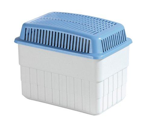 Wenko 5410010100 Feuchtigkeitskiller 1 kg, Luftentfeuchter, Raumentfeuchter, Polypropylen/Calciumchlorid, 24 x 16 x 15 cm, grau