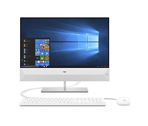 HP Pavilion 24-xa0032ng (23,8 Zoll / Full HD) All in One PC (Intel Core i5-9400T, 8GB DDR4 RAM, 512GB SSD, Intel HD Graphik 630, Windows 10 Home) weiß