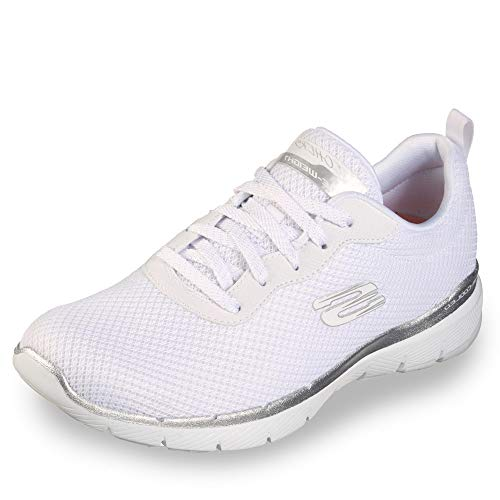 Skechers 13070/WSL Appeal 3.0-First Insight Damen Sneaker weiß/Silber, Größe:42, Farbe:Weiß