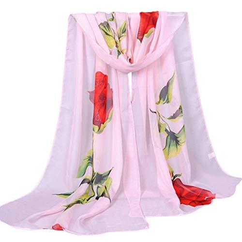 YEARNLY Strandtuch Chiffon Bedrucktes Rose Strandtuch Schnell trocknend Slim Sunscreen Anti UV Beach Towel Strandtuch Schal 9Farben 160x50CM