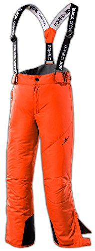Black Crevice Kinder Skihose, orange, 140