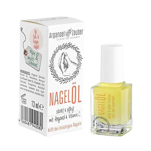 Arganoel-Zauber Nagelöl/Nagelhärter inkl. Pinsel | stärkt & pflegt rissige, brüchige Fuß- und Finger-Nägel | vegan & tierversuchsfrei | mit Arganöl, Vitamin C & Bisabolol (1 x 13 ml)