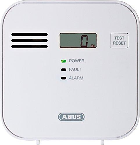 ABUS  Kohlenmonoxid-Warnmelder COWM300 CO-Melder | LCD-Display inkl. CO-Konzentration | Prüftaste | bis 60 m² | weiß | 37241