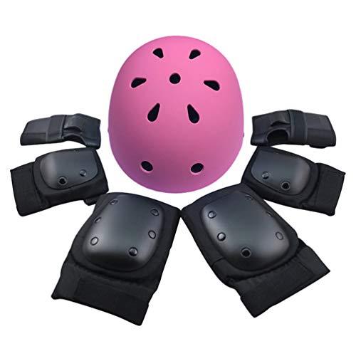 Dooxii Kinder Sport-Schutzausrüstung 7PCS Knieschoner Ellenbogenschoner Handgelenkschutz Helm Schutzset Skateboard Rollerblades Radfahren Reiten Radfahren Fahrrad und Outdoor-Aktivitäten