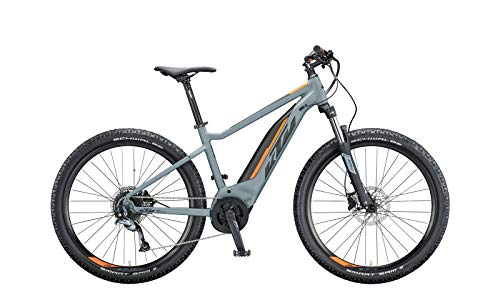 KTM Macina Ride 271 Bosch Elektro Mountain Bike 2020 (S/43cm, Epicgrey Matt/Black/Orange)