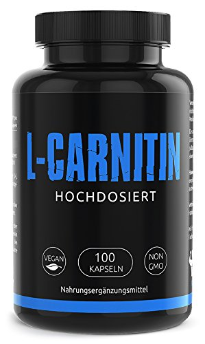 GYM-NUTRITION® — PREMIUM L-CARNITIN 3000 – Ultra hochdosiert, vegan, ohne Zusätze – Beliebt bei Figur bewussten Menschen – 100 Kapseln – Made in Germany
