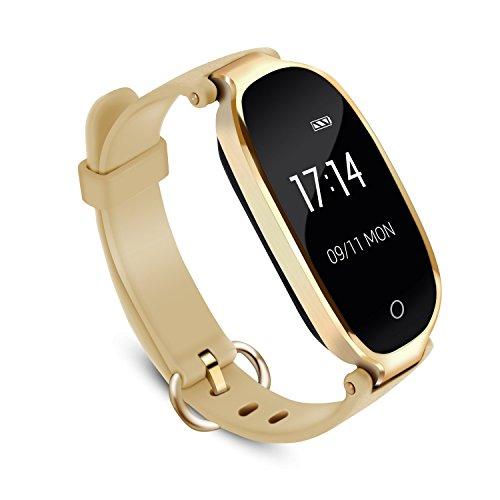 Fitness Tracker mit Pulsmesser Bluetooth 4.0 Smart-Herzfrequenz Monitor Armband Schrittzähler Schlafanalyse Kalorienzähler Schlaftracker, IPX7 Wasserdichte Aktivität Tracker für Android 4.4, iOS 8.0