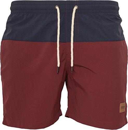 Urban Classics Herren Badehose Block Swim Shorts nvy/burgundy XS