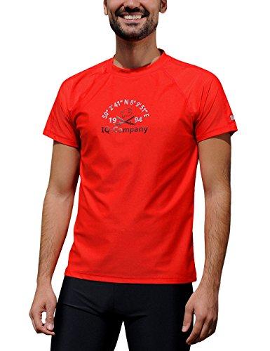 iQ-Company Herren T-Shirt UV-Schutz 300 Loose Fit Watersport 94,rot(red),3XL (58)