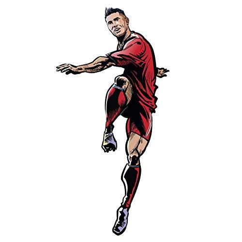 Wandsticker FC Bayern München Comic Stil Spieler Robert Lewandowski Stürmer Bayern München Fußball Bundesliga Mannschaft Sportverein Club Logo Trikot