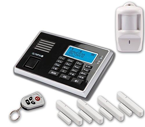 Olympia 5943, Protect 9061 Drahtlose GSM Alarmanlage mit Notruf und Freisprechfunktion, App Steuerung mit ProCom App, schwarz