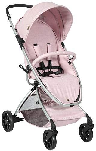 Topmark Jay Pink Kinderbuggy mit Sportsitz und Liegefunktion ab 6 Monaten, kompakt und leicht, mit Einkaufskorb und Sonnenschutz, rosa T6090