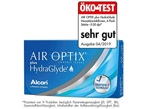 Air Optix HydraGlyde Monatslinsen weich, 6 Stück / BC 8.6mm / DIA 14.2 / 2.5 Dioptrien