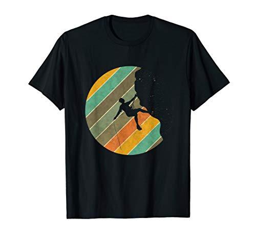 Wandern Berge Klettern Lustig - Kletter Retro  T-Shirt