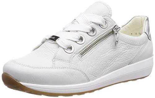 ARA Damen Osaka 1234587 Sneaker, Weiss, Silber 07, 42 EU