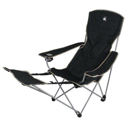 10T Campingstuhl Quickfold Plus Klappstuhl mit Armlehnen & Fußstütze & Getränkehalter max 110 kg