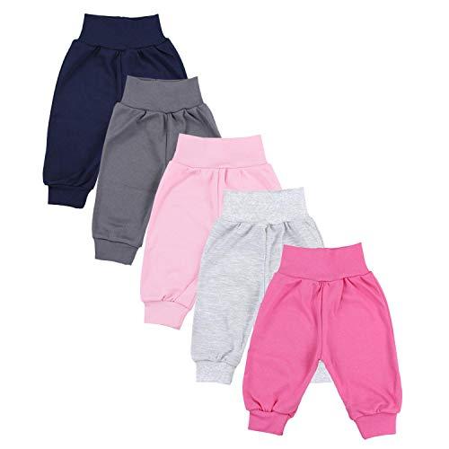 TupTam Unisex Baby Pumphose 5er Pack, Farbe: Mädchen 5, Größe: 98