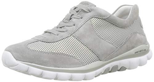 Gabor Shoes Damen Rollingsoft Sneaker, Silber/Grau 39, 42 EU