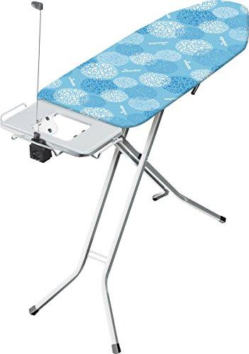 Vileda Solid Plus Bügeltisch, blau, extra breite Bügelfläche, 122 x 44 cm
