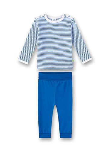 Sanetta Baby-Jungen Pyjama Zweiteiliger Schlafanzug, Blau (River Blue 50047), 92 (Herstellergröße: 092)