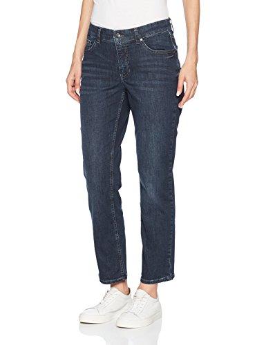 MAC Jeans Damen Melanie Straight Jeans, Blau (Midnight Blue Used D876), W42/L32